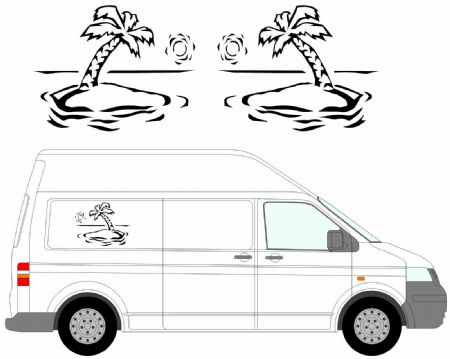 (No.19) MOTORHOME GRAPHICS STICKERS DECALS CAMPER VAN CARAVAN UNIVERSAL FITTING